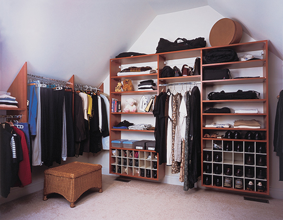 Custom Closet with Angled Ceiling