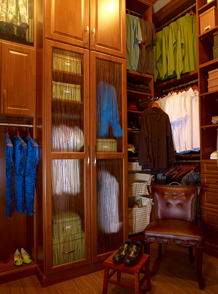 Custom Closet with Glass Doors