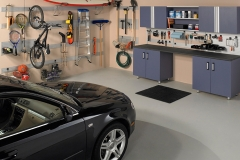 Garage with Slatwall