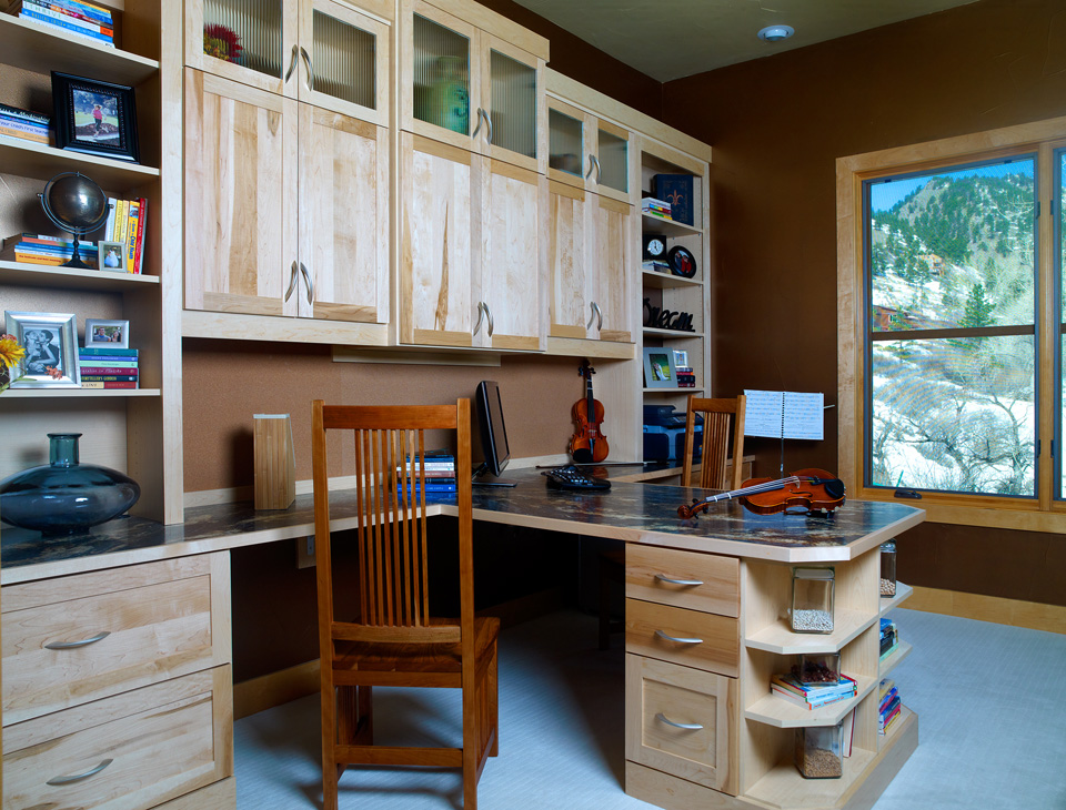 Natural Wood Home Office