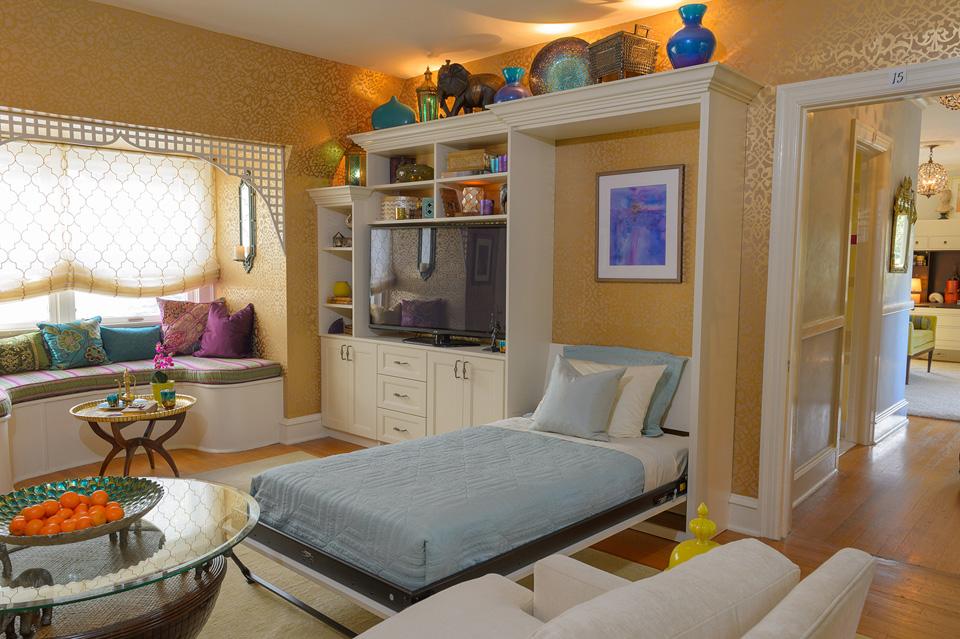 Art Nouveau Panel Bed